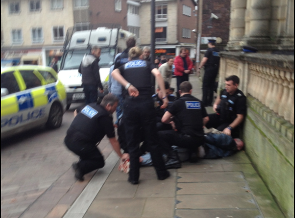 Questions raised after a dozen police arrest homeless man ...