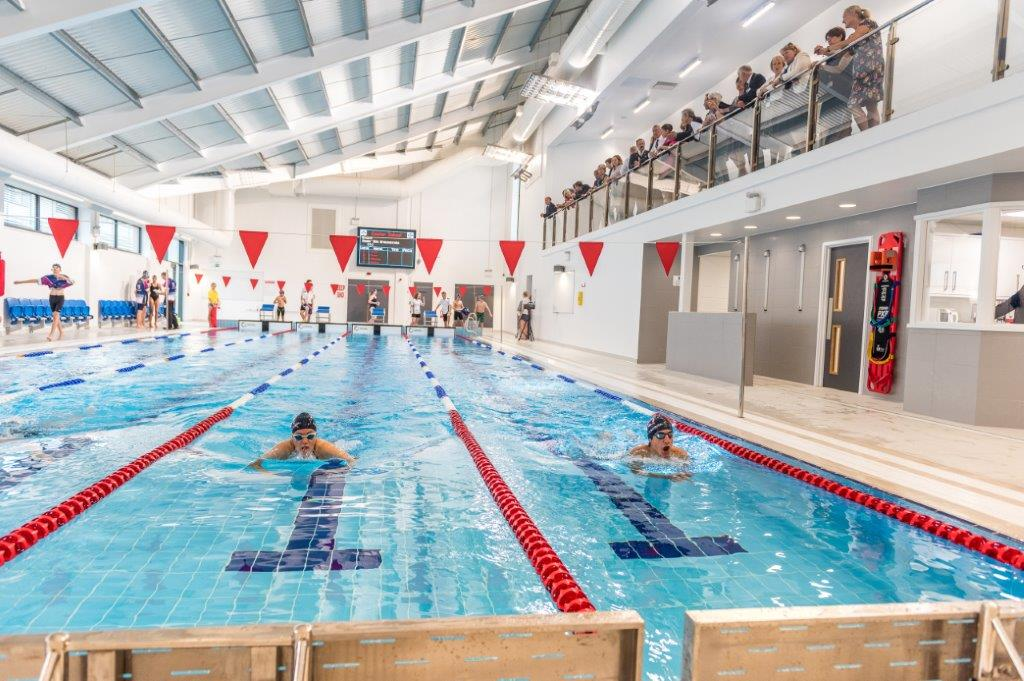 Exeter school opens new indoor pool the exeter daily for Unused swimming pool