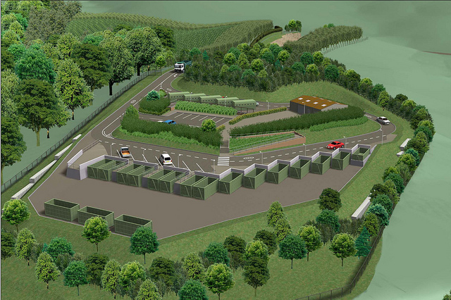 Work to start on new recycling centre for sidmouth the for Household waste recycling centre design
