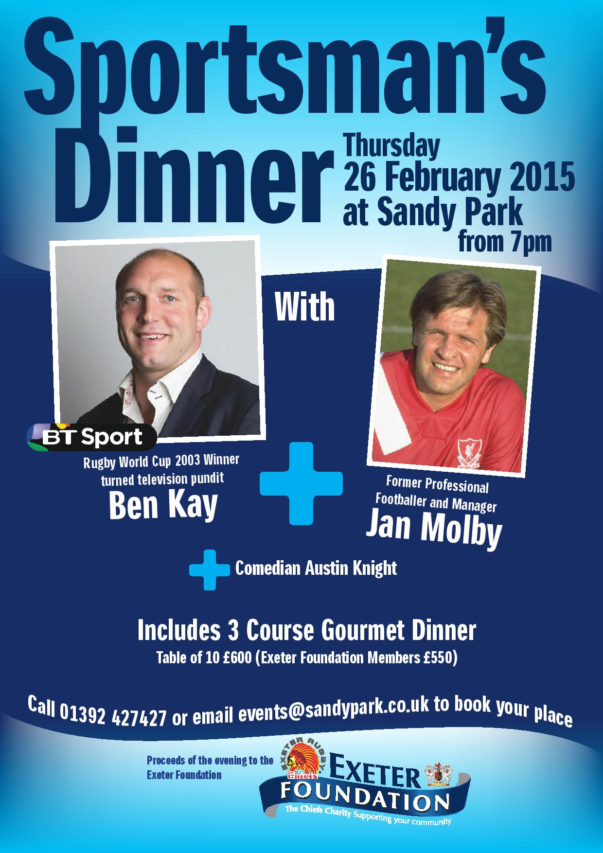 Exeter Foundation Sportsman S Dinner The Exeter Daily