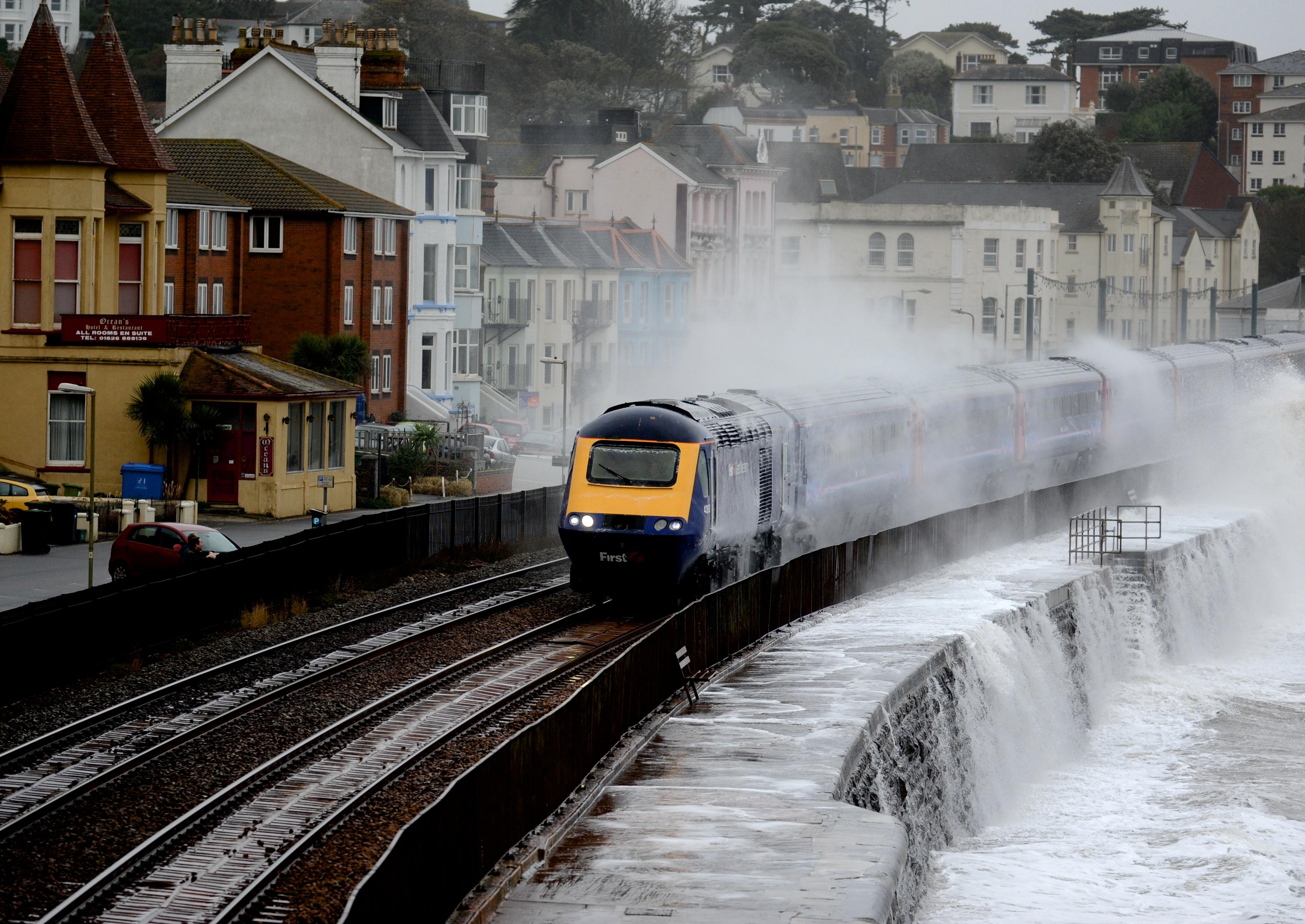 Dramatic Photos Of Dawlish Battling With The Elements