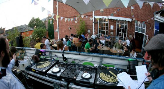 Wax the van terrace party the exeter daily for Whats a terrace house