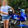 Kate West all set for her round Britain ride