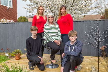 Frances and her family - from left to right Jake, Kerry, Frances, Carla and Dan