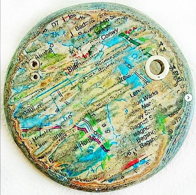 Paper brooch by Alysa freeman
