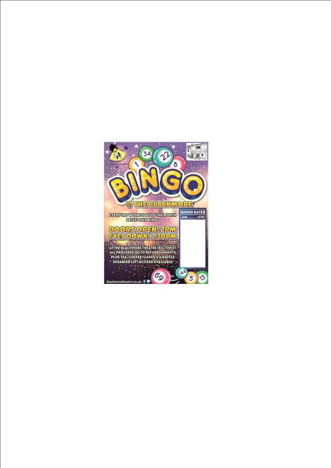 Prize Only Bingo - Jan 2020