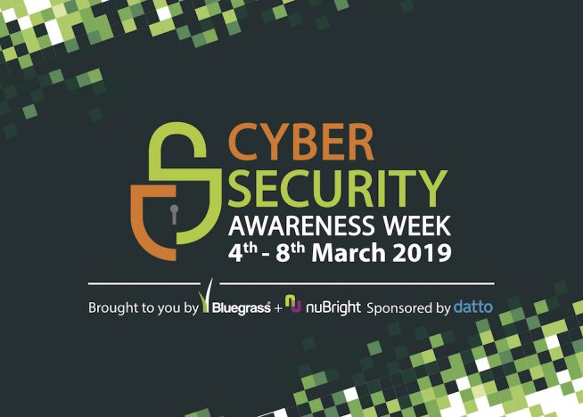 Logo for Cyber Security Awareness Week - a week of free events designed to educate and inform local businesses about cyber crime.