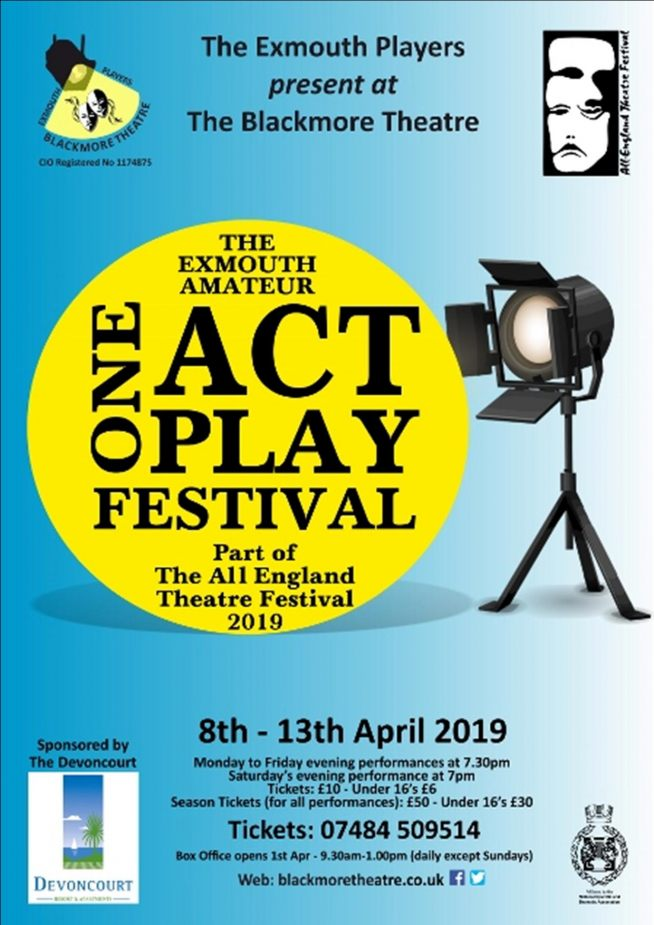 The Exmouth Amateur One Act Play Festival 2019 - Ticket Announcement