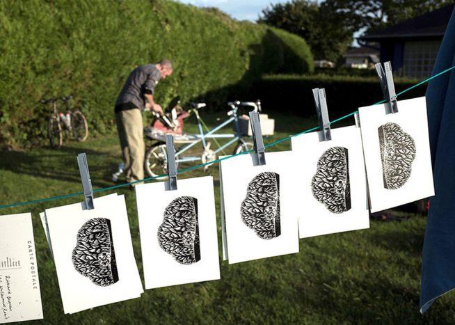 Nick Hand and the print bike