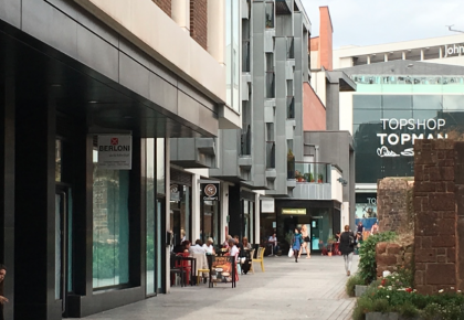 Princesshay welcomes berloni the exeter daily Kitchen design shops exeter