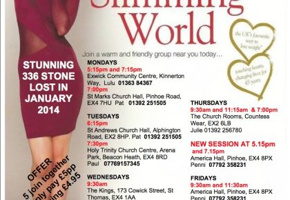 Slim For Good With Slimming World The Exeter Daily