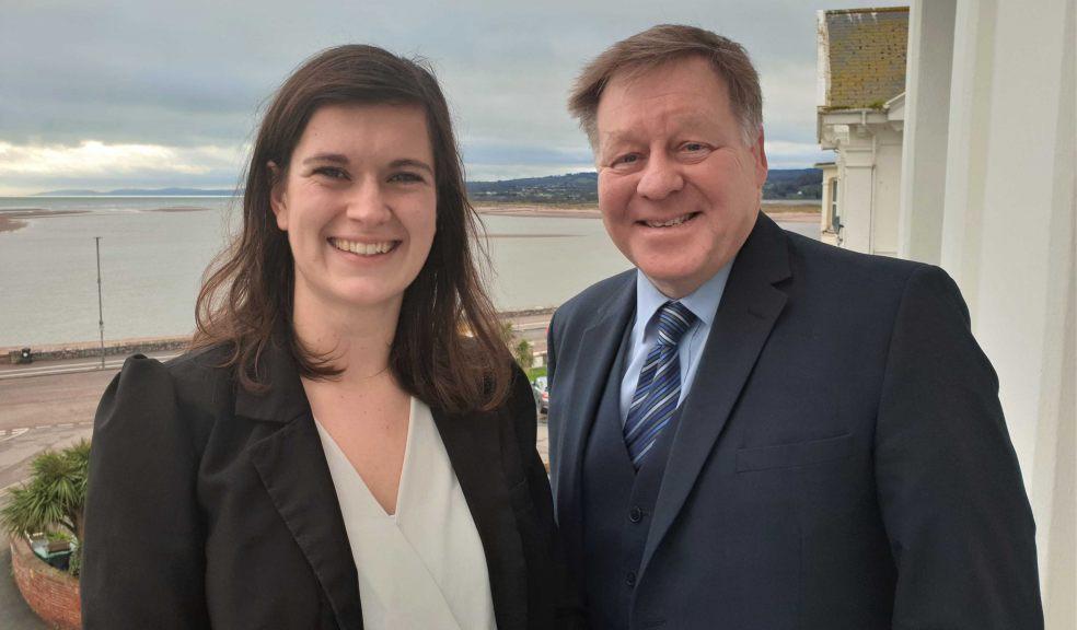 Trainee accountant Sarah Balsdon and Partner Ruskin Wilson