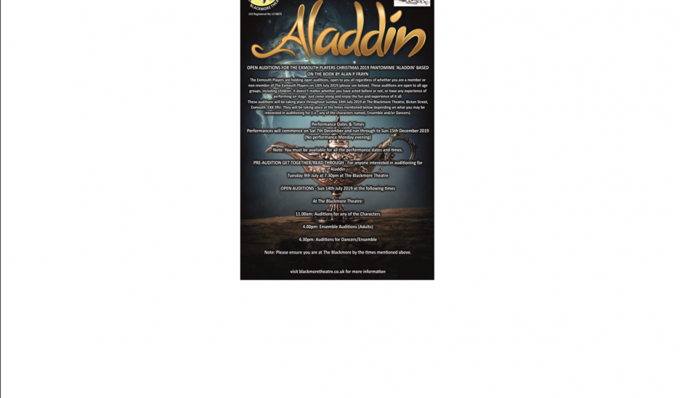"""Aladdin"" Auditions"