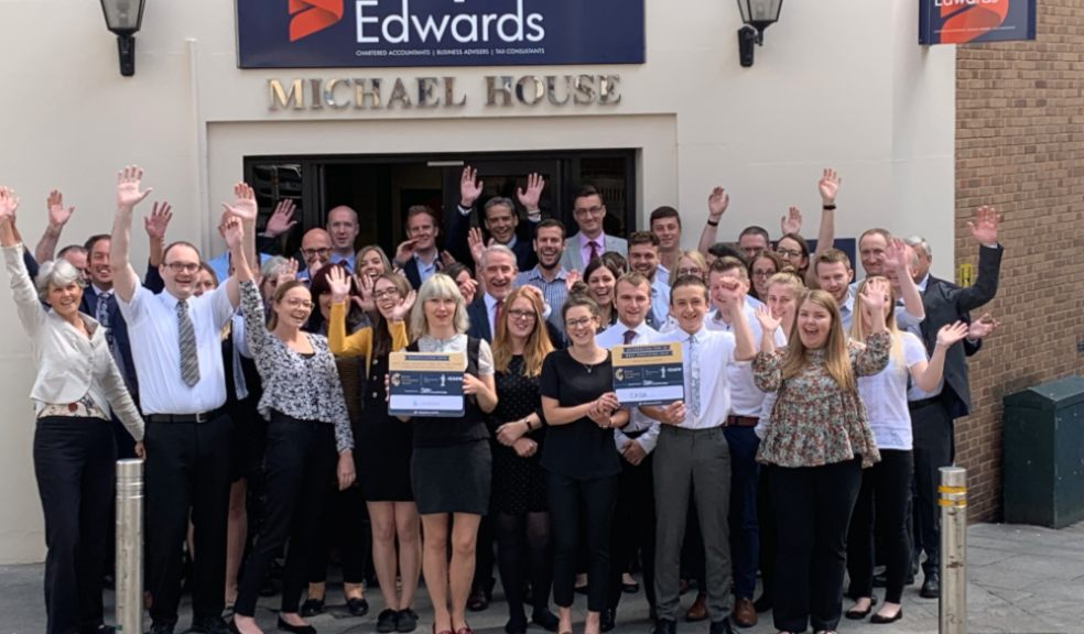 Devon-based Simpkins Edwards is celebrating with its team after being accredited as one of the UK's ten best accountancy employers by judges at the British Accountancy Awards (BAAs).