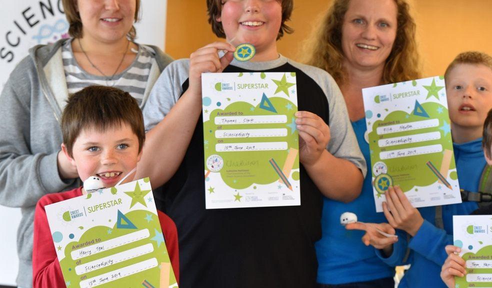 Children receiving their certificates