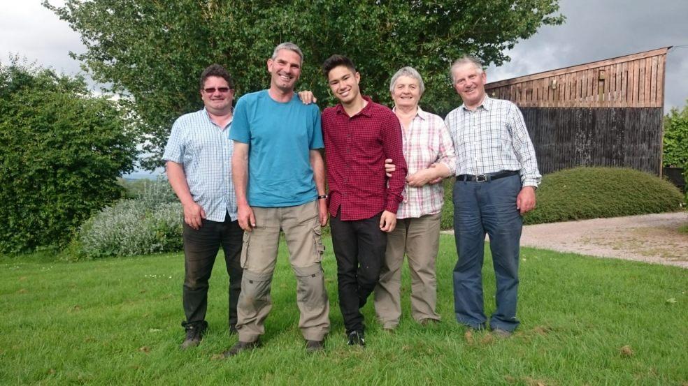 L-R: Simon Boyce, Tim Boyce, Bazzil Boyce, Susan Boyce, Clive Boyce