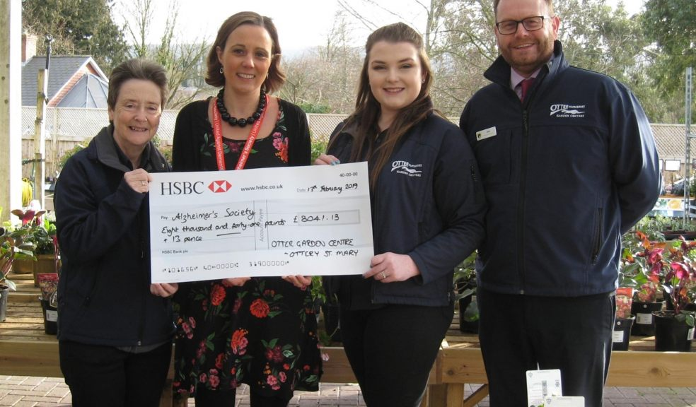 Charity cheque presentation
