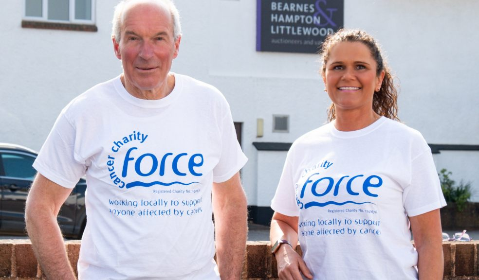 Chris Hampton and Rachel Littlewood, who are taking part in a charity half marathon