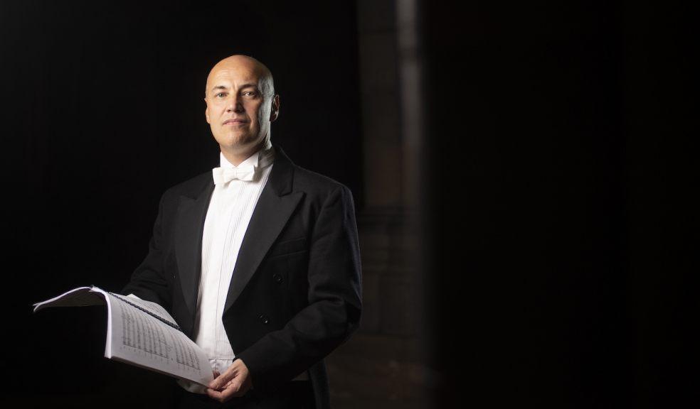 Exeter Philharmonic Choir's conductor Howard Ionascu