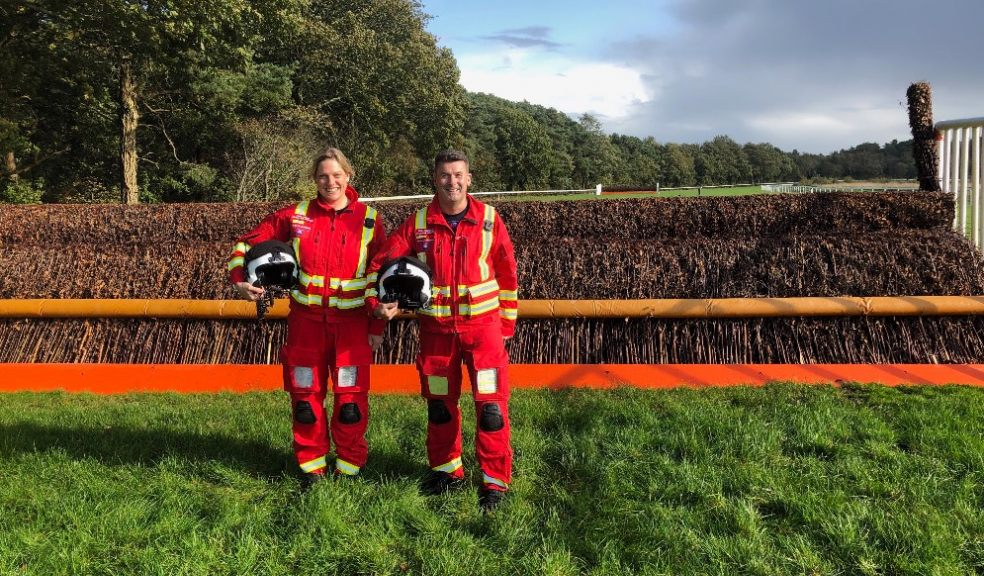 Kate Adlam and Paul Robinson, paramedics with Devon Air Ambulance