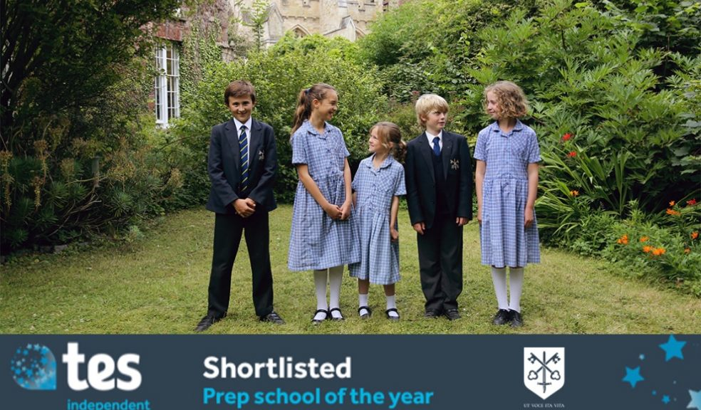 Exeter Cathedral School shortlisted for Prep School of the Year