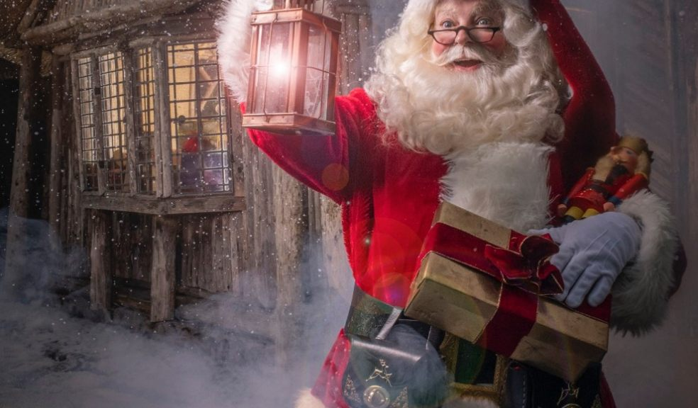 Father Christmas at Killerton. Photo: Steven Haywood, National Trust Images