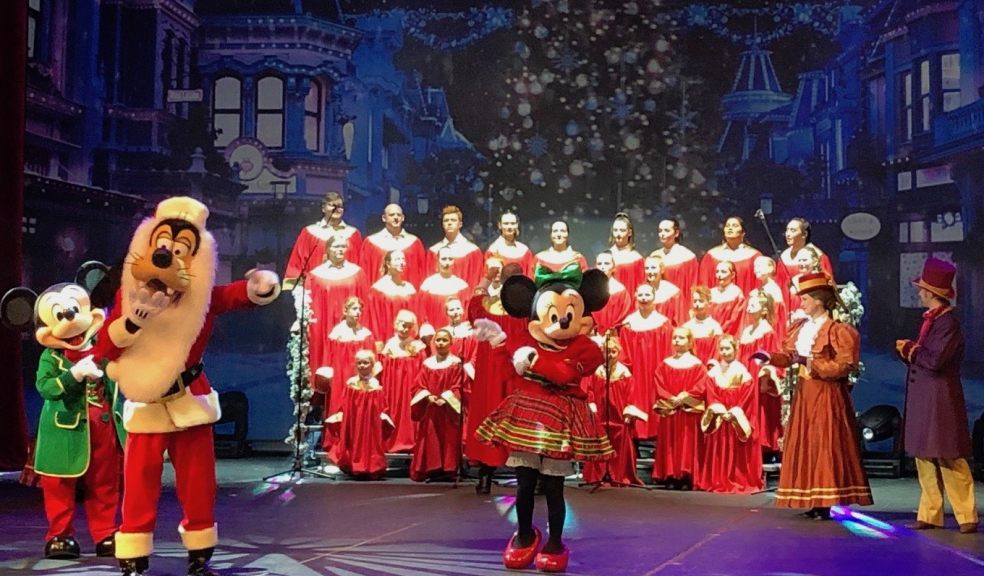Theatretrain Exeter performing at Disneyland Paris last Christmas