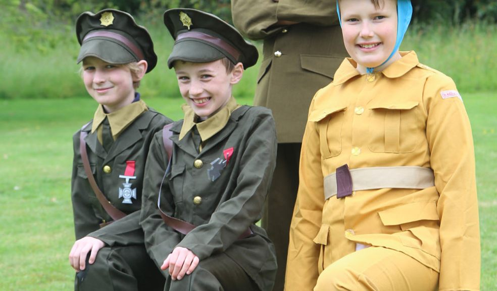 BCPS children (aged 9/10) in character as soldiers for their Forestry Commission performance.
