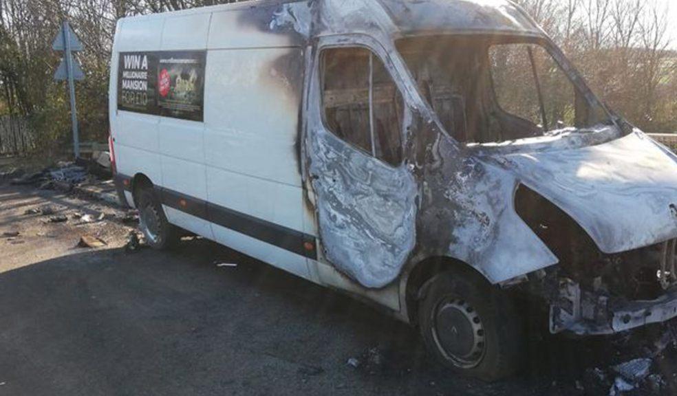 Millionaire Mansion van set alight in arson attack