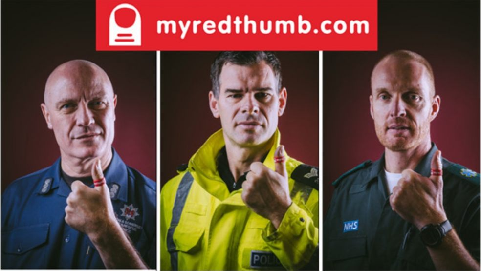 Emergency services join forces for 'My Red Thumb' Day 2021 road safety awareness campaign
