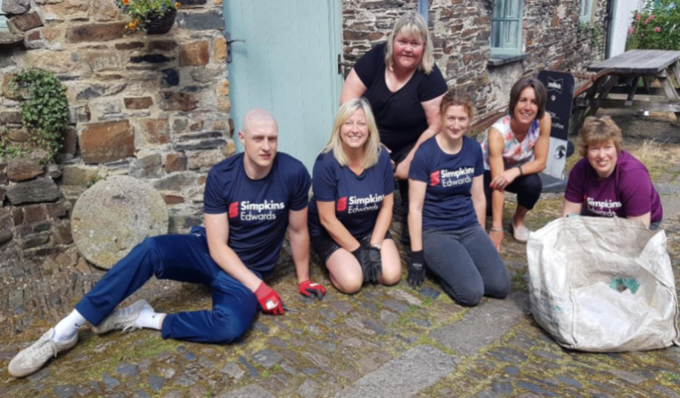 Simpkins Edwards' team of volunteers accompanied by Museum of Dartmoor Life Manager Keri Quertier.