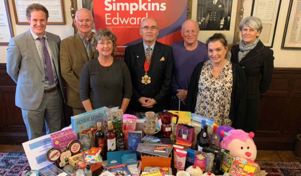 Barnstaple Really Big Quiz: James Welton, Partner at Simpkins Edwards; Geoff Goldsworthy of Age Concern; Jan Marshall of See Hear Centre; Mayor of Barnstaple, Cllr Alan Rennles; Colin Brown of  See Hear Centre; Louise Lecky-Thompson, Civic and Ceremonial Manager for the Mayor's office, Jilly Watson, Partner at Simpkins Edwards.