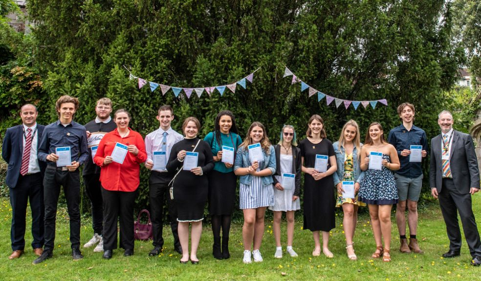 Some Exeter College vocational students at the garden party