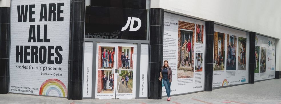 Floral and art installations to welcome visitors for shopping and alfresco dining in Princesshay