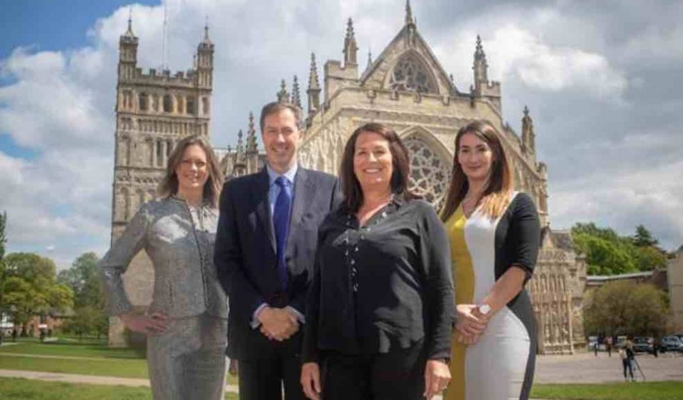 L-R: Charlotte McGregor, Partner at Wollens; Chris Hart, Chief Executive at Wollens; Joanne Caine, Exeter Chamber Board Director; and Amanda Bonnick, Partner at Wollens