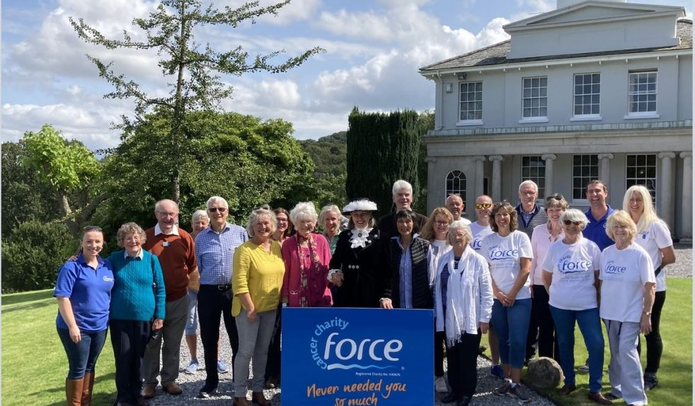 Supporters of FORCE Cancer Charity gathered at Perridge House near Exeter at the kind invitation of The High Sheriff of Devon, Lady Lucy Studholme