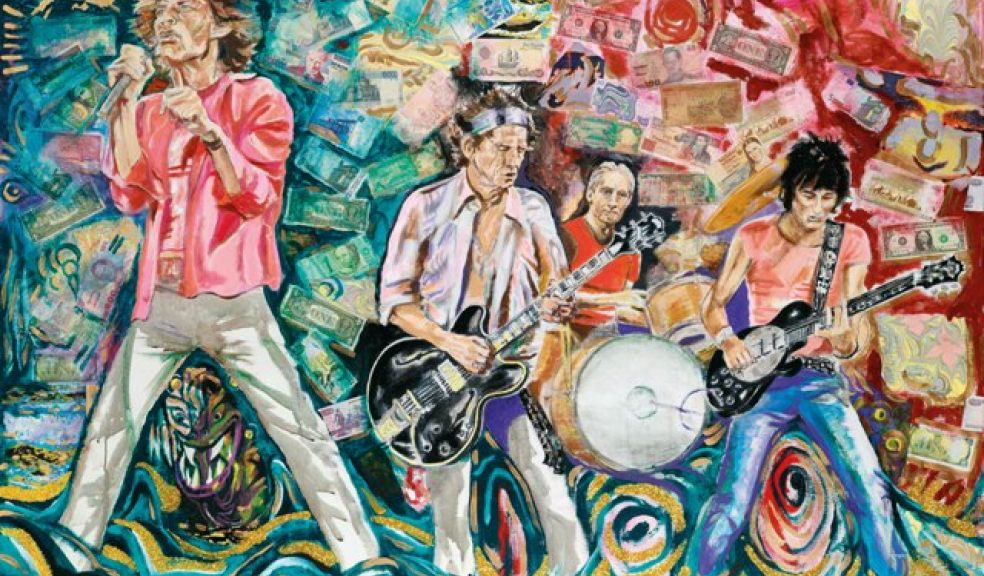 Exhibition Showcasing Rock Legend Ronnie Wood S Artwork Rolls Into Exeter The Exeter Daily