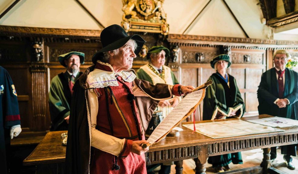 Thomas Shapcot (aka Jeremy James Taylor MBE) reads the Royal Charter from King James 1st