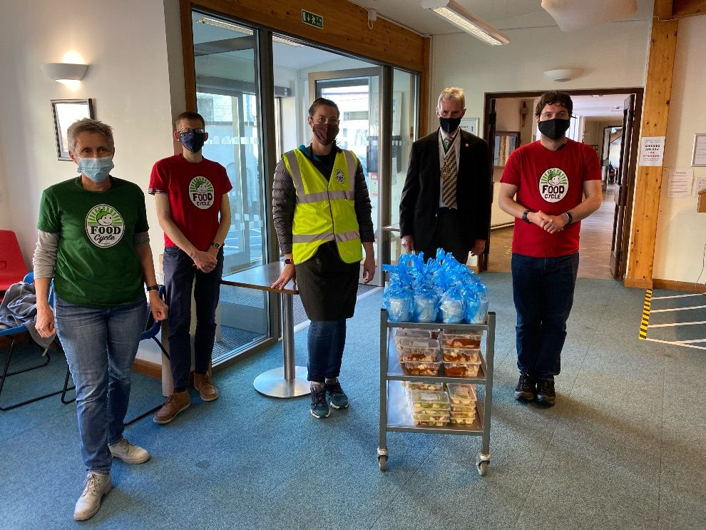 The Lord Mayor of Exeter Visits FoodCycle Exeter
