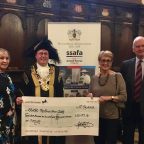 Exeter Philharmonic Choir members with the Lord Mayor and Brigadier Andy Pillar OBE, SSAFA Devon