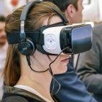Image of girl using virtual reality headset