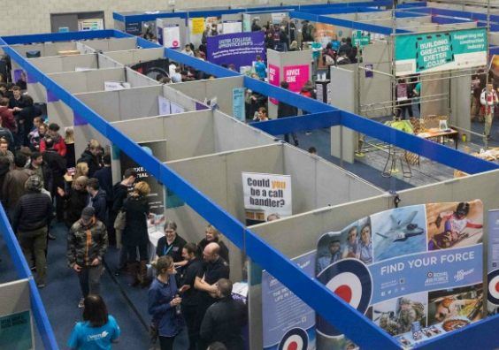 The Apprenticeship Expo that was held at Exeter College