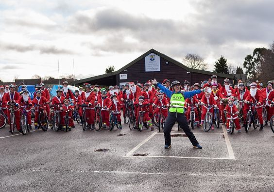 Ready for the off at the FORCE Santa Cycle