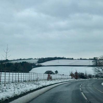 Snow warning on Devon roads