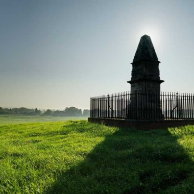 Alfred's Monument at Athelney – whilst here Alfred's forces beat the Vikings near Lynmouth.