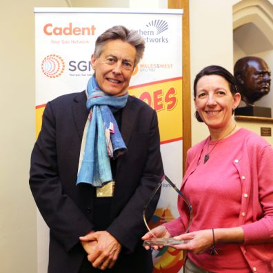 Healthy Homes for Wellbeing adviser Tara Bowers was named a national Heat Hero earlier this year - now she's helping people through the COVID pandemic. Credit: Exeter Community Energy.