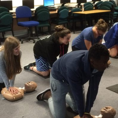 Young people taking part in NCS learn CPR with the support of Jay's Aim charity