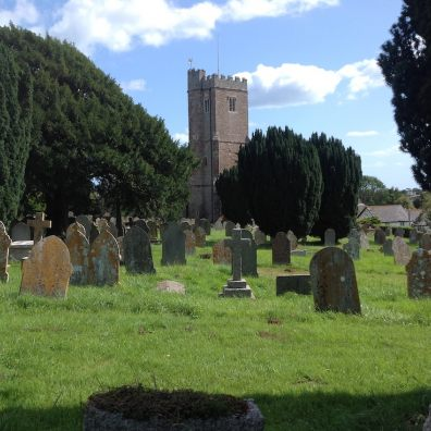 East Budleigh churchyard, the 2019 winner of CPRE Devon's Best Churchyard competition