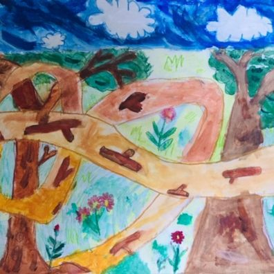The winning Keys Stage 1 entry in this year's CPRE Devon children's art competition