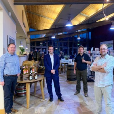 Simon Jupp MP shows support for Devon cider